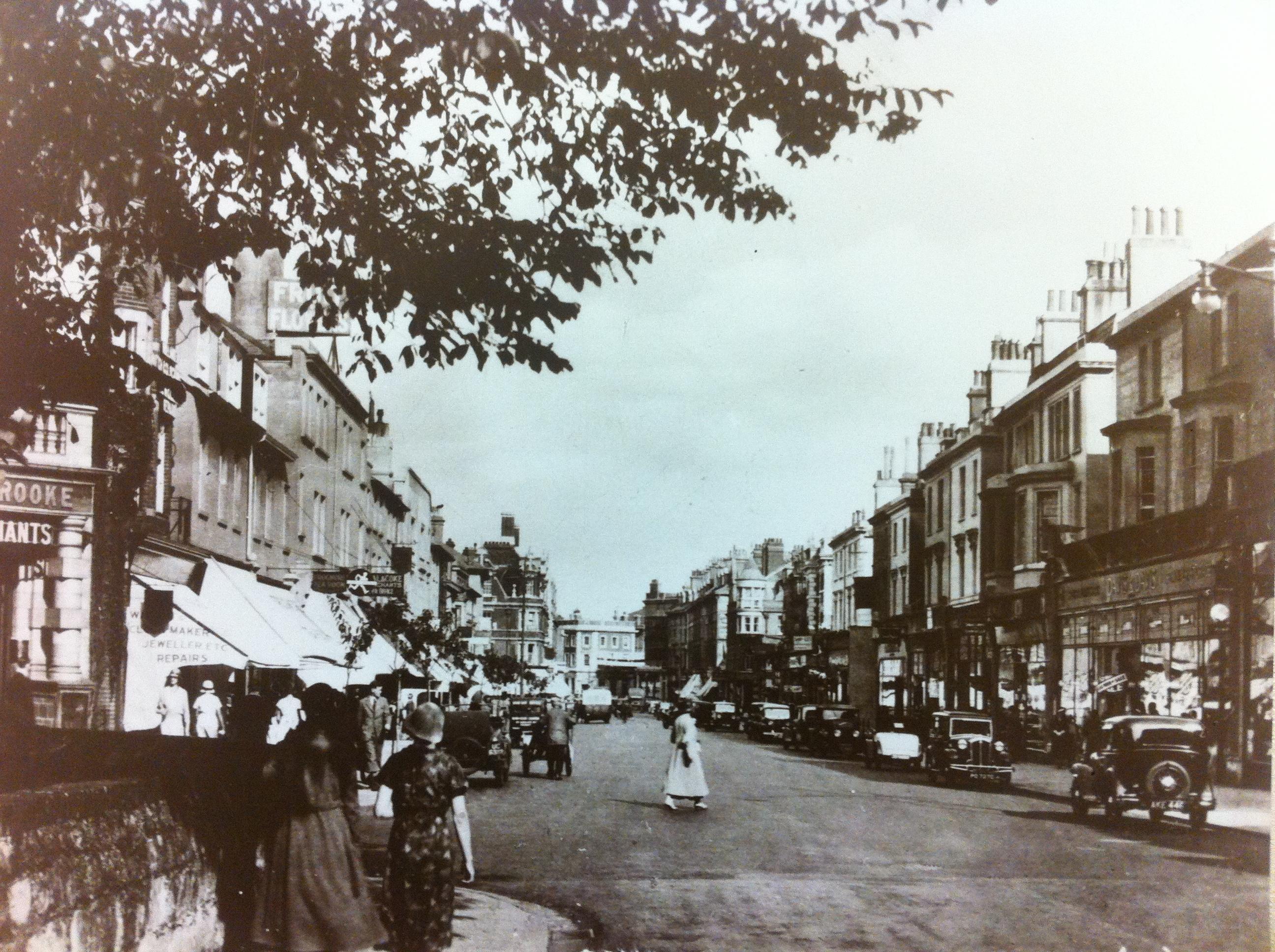 Sandgate Road, Folkestone, circa 1900.